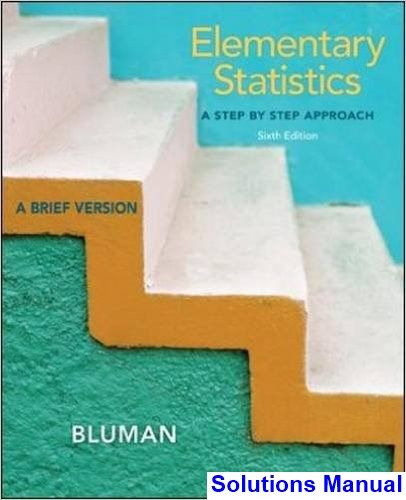 Elementary statistics 6th edition allan bluman solutions manual elementary statistics 6th edition allan bluman solutions manual test bank solutions manual exam fandeluxe Image collections