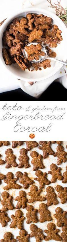 Gluten Free & Keto Gingerbread Cereal #ketocereal # ...