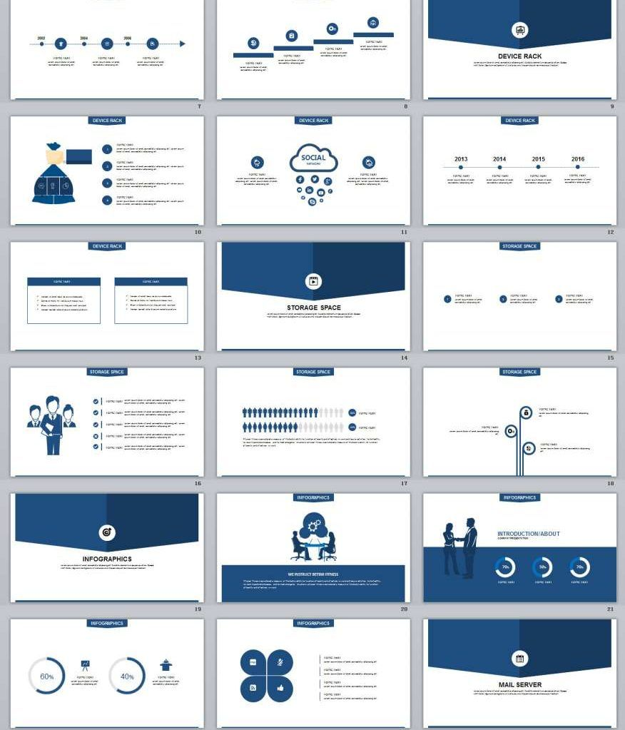4 In 1 Concise Powerpoint Template Best Business Plan