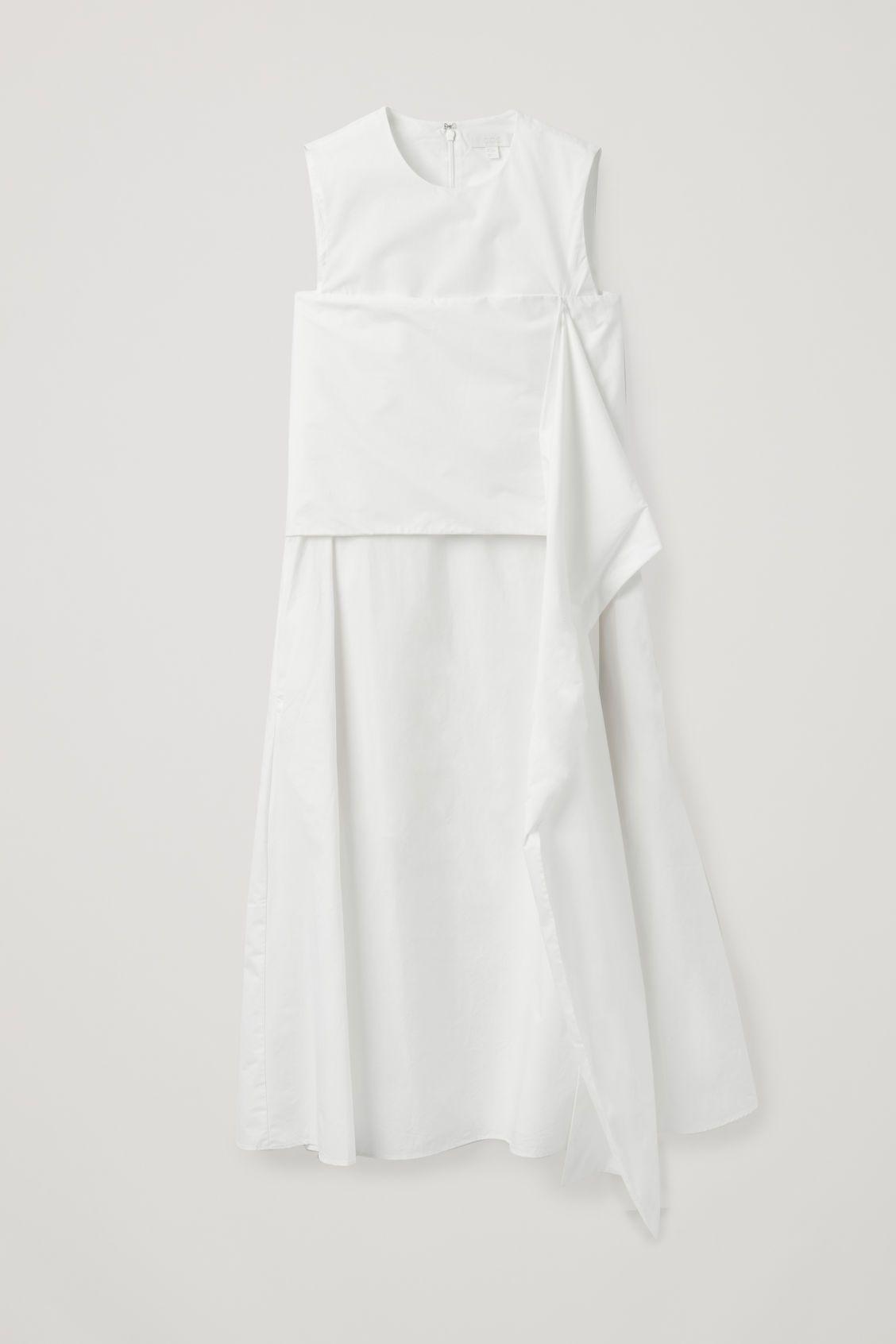 ffb1d7f42c09 WOVEN-PANELLED A-LINE JERSEY DRESS - Deep navy - Dresses - COS ...