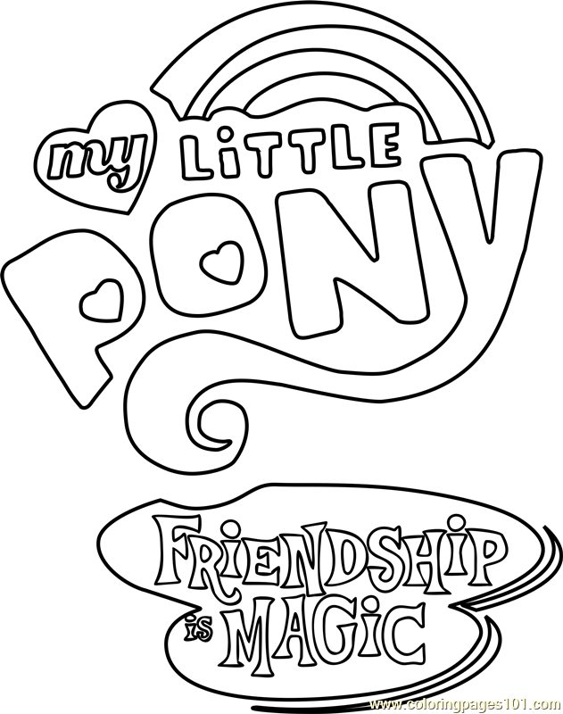 My Little Pony - Friendship Is Magic Logo Coloring Page ...