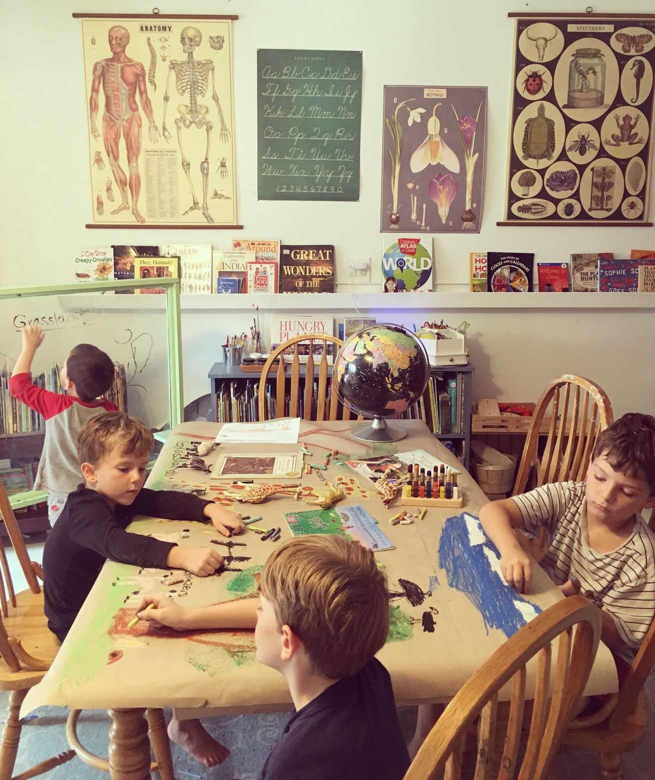 Minimalist Homeschool Room: Study Of Africa Traditions And Cultures