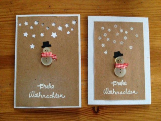 zammelst cke knopf karte christmas winter cards. Black Bedroom Furniture Sets. Home Design Ideas