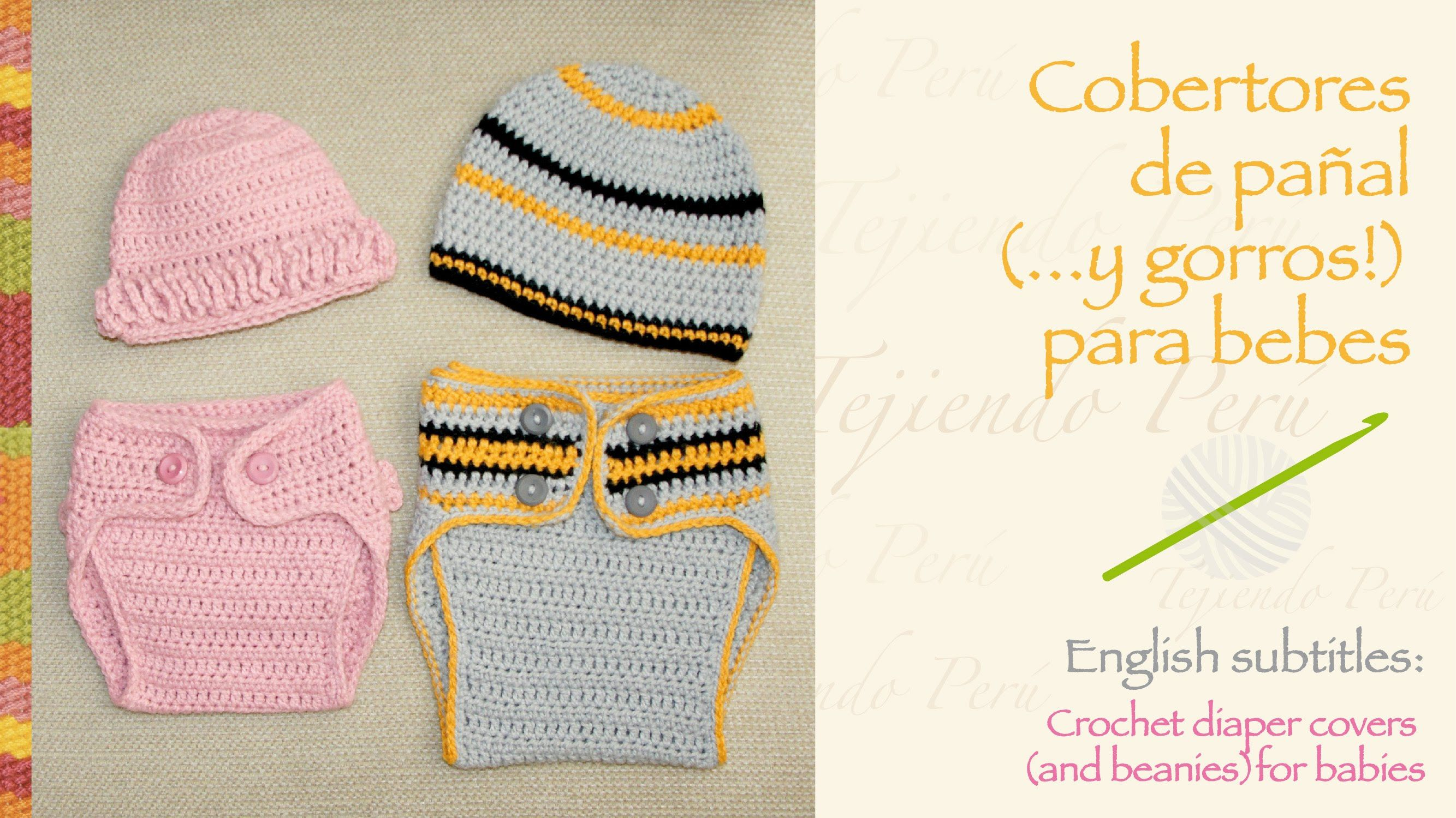 Hermosa Crochet Patrón De Pañal Cubierta 12 Meses Imagen - Ideas de ...