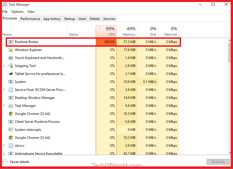 How To Fix Runtime Broker Runtimebroker Exe High Cpu And Ram Usage In Windows 10 Windows 10 Snipping Tool Fix It