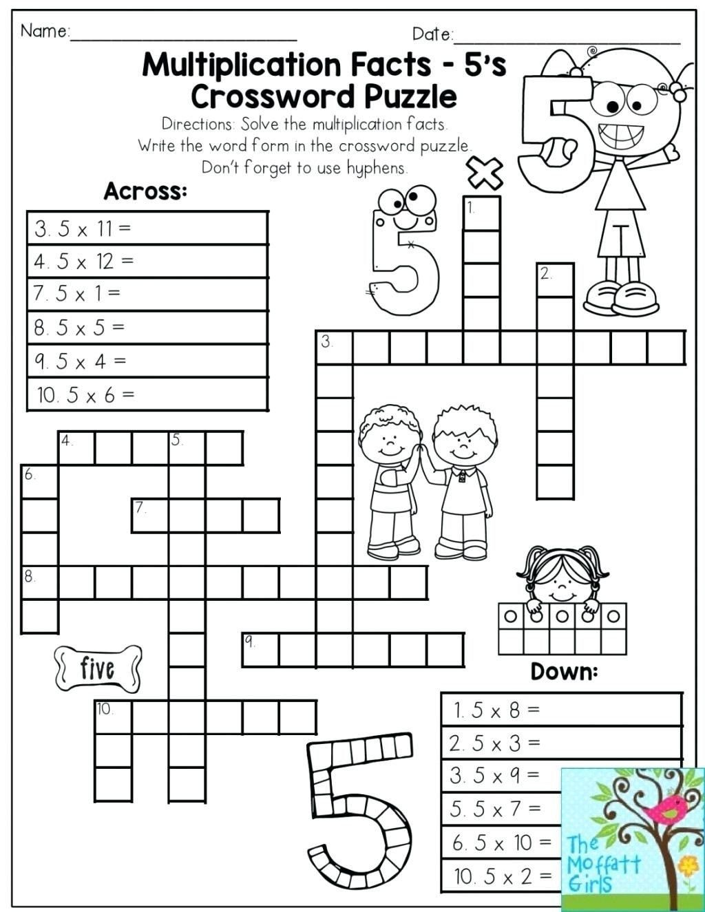 6th Grade Math Puzzles Worksheets 6th Grade Math