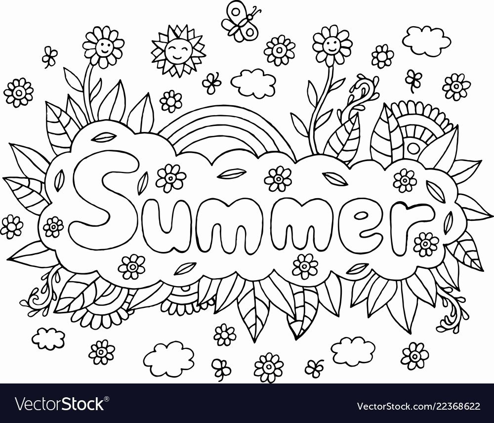 Adult Summer Coloring Pages Fresh Coloring Page for Adults