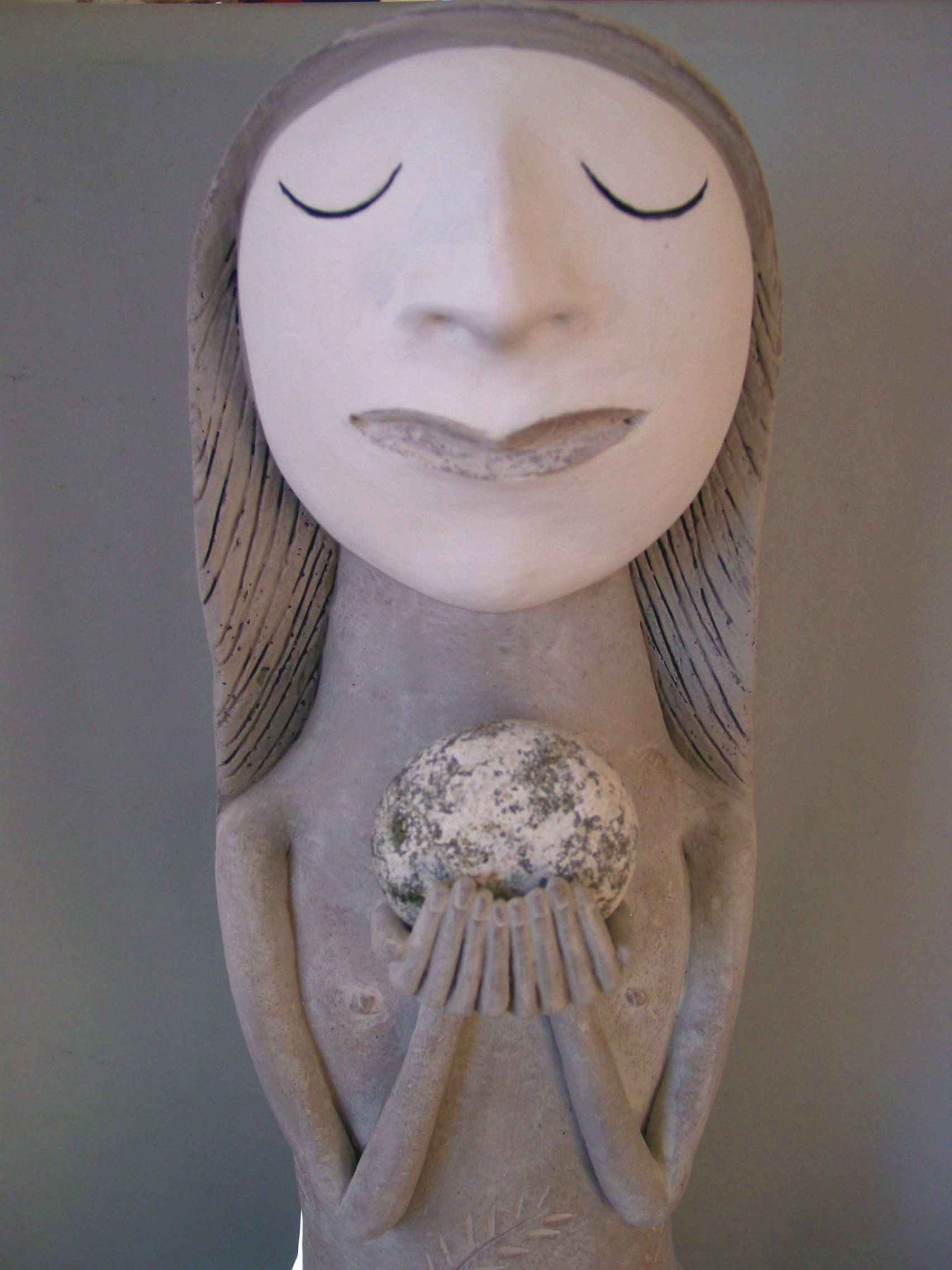 Precious; clay & stone by Sally Curry
