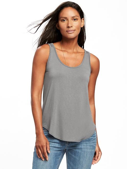 dc56352856fc0d Luxe Curved-Hem Tank for Women