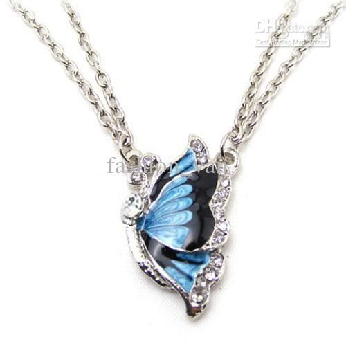 s ocean image butterfly crystals is with sivery blue from itm swarovski loading necklace