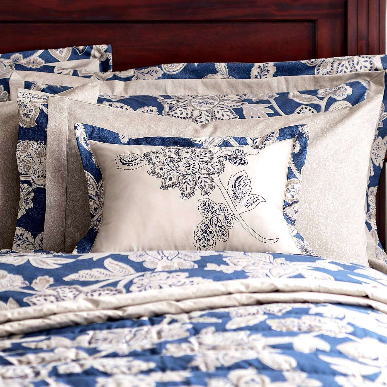Nautical Bedding Dunelm: Dorma Blue Samira Boudoir Cushion