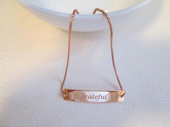 Grateful Bracelet Rose Gold Adjule