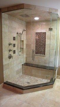 shower makeover | Traditional Bathroom Makeover