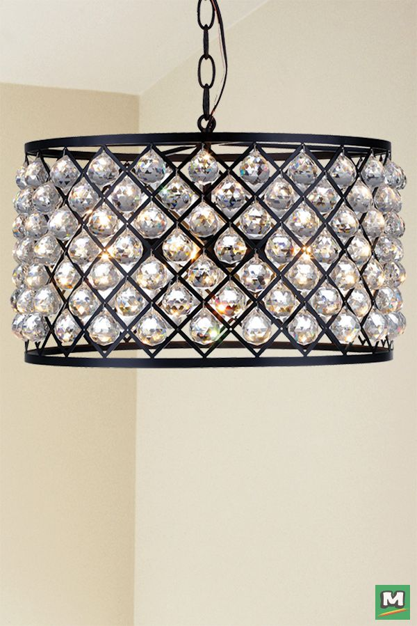 Patriot Lighting Elegant Home Paisley Drum Pendant With Oil Rubbed Bronze Finish And Clear Crystals Crystal Chandelier Drum Pendant Lighting