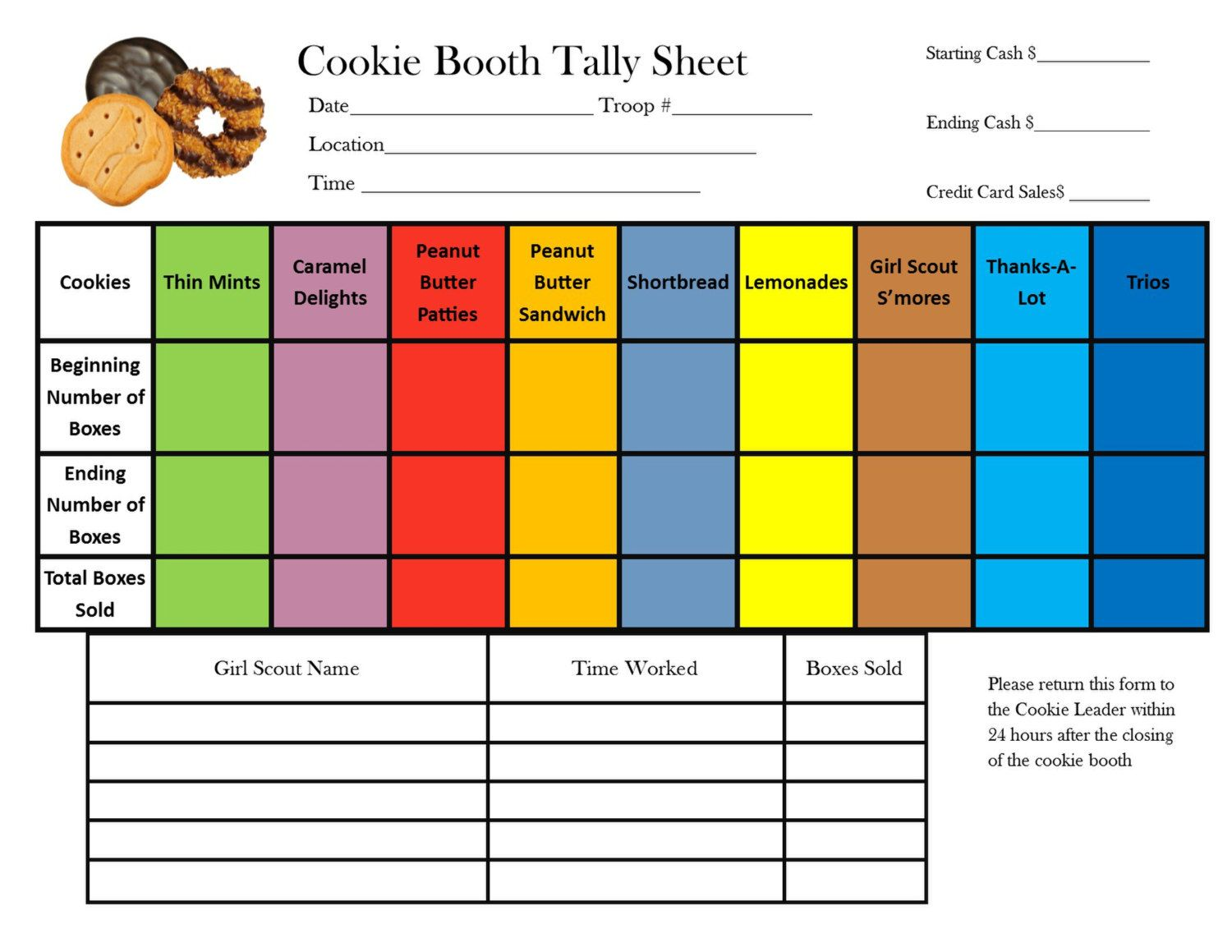 Looking for a better way to keep track of your cookie booth sales ...