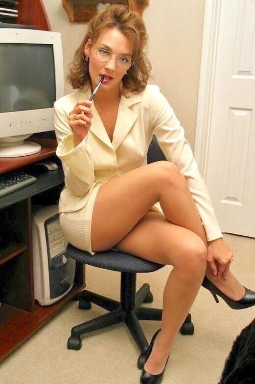 Share your secretary amateur pantihose