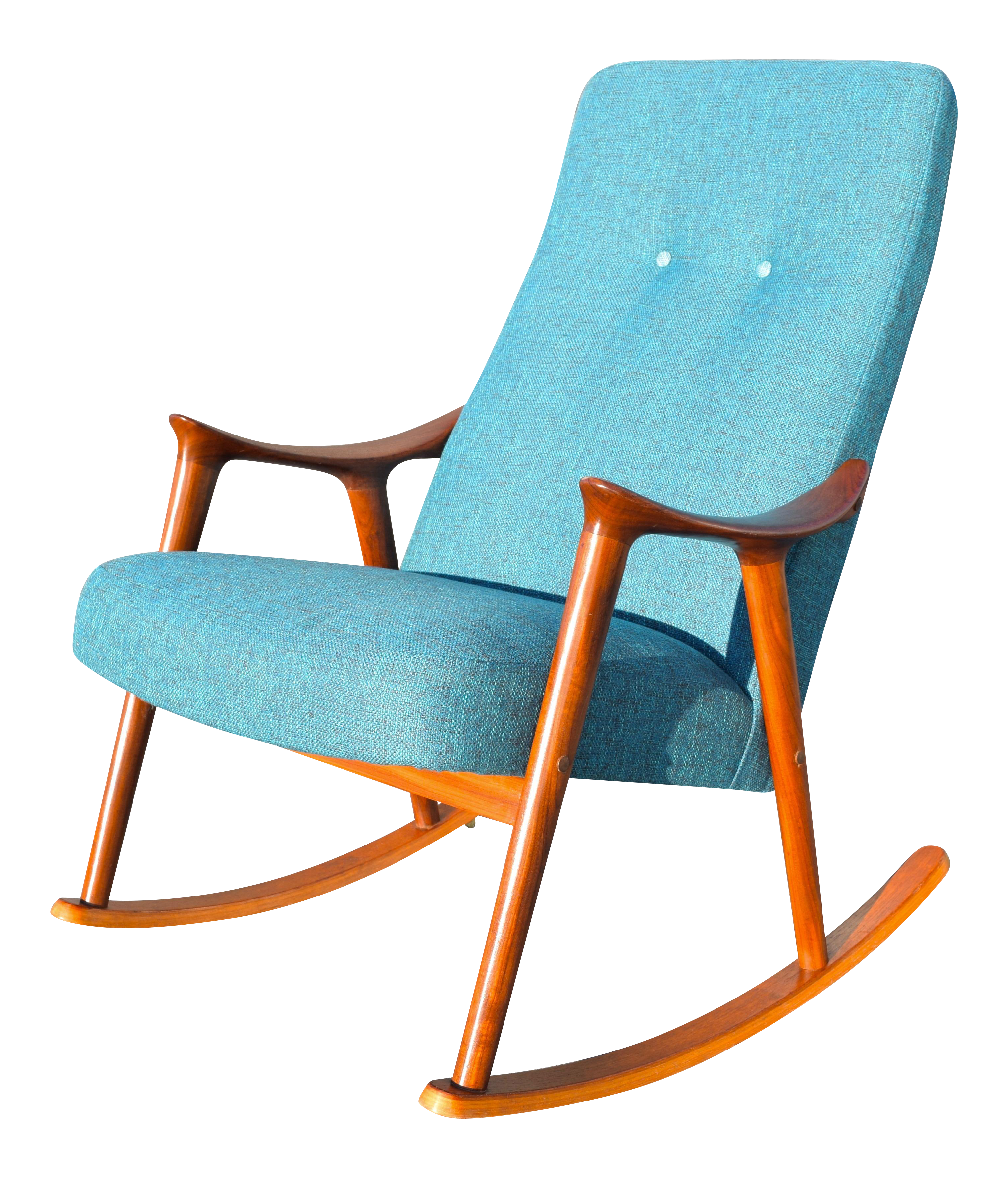 Vintage Danish Modern Rocking Chair by Rastad & Relling for M¸re