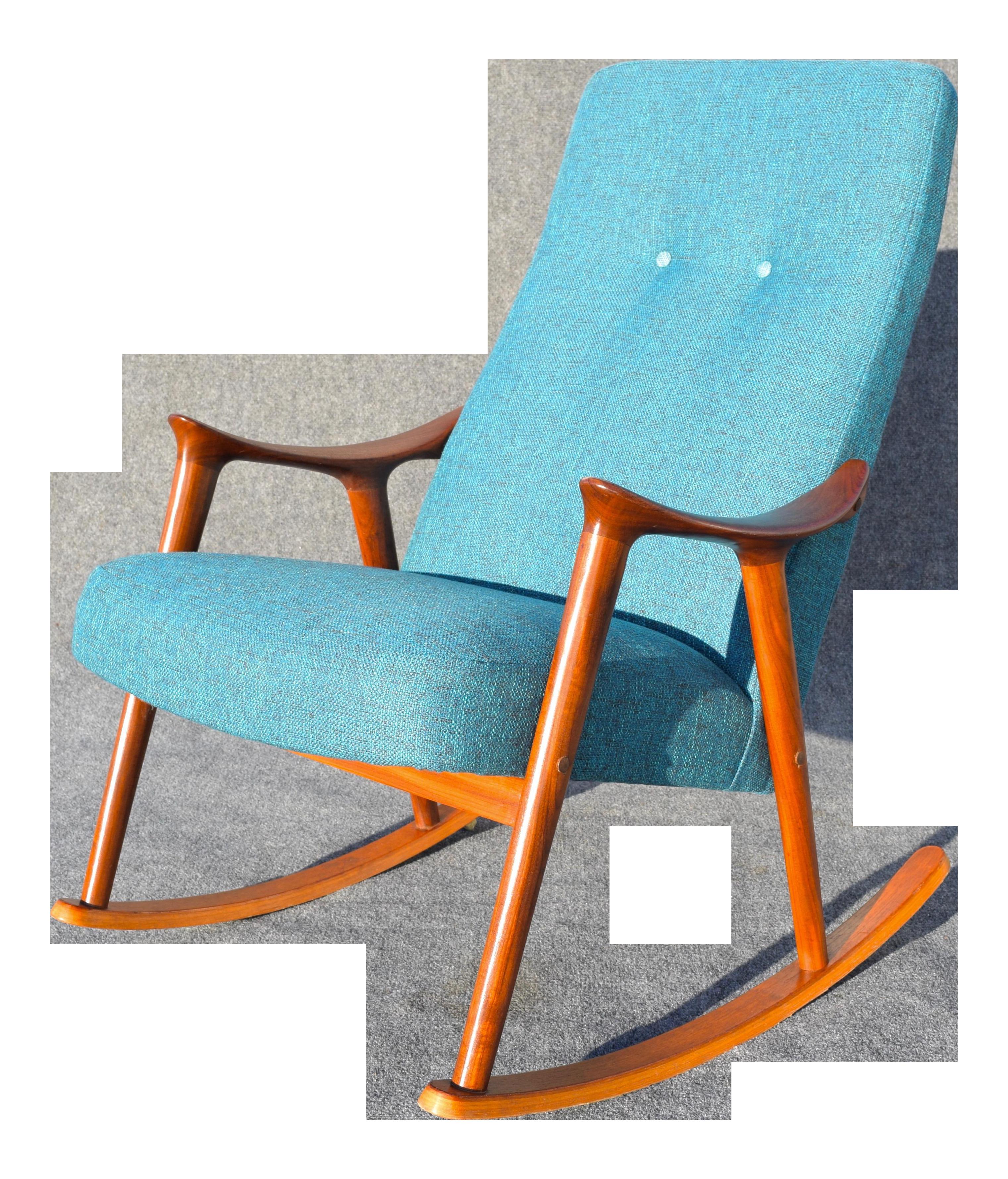 Danish Modern Rocking Chair Antique Cast Iron Garden Chairs Vintage By Rastad Relling For More Lenestolfabrikk