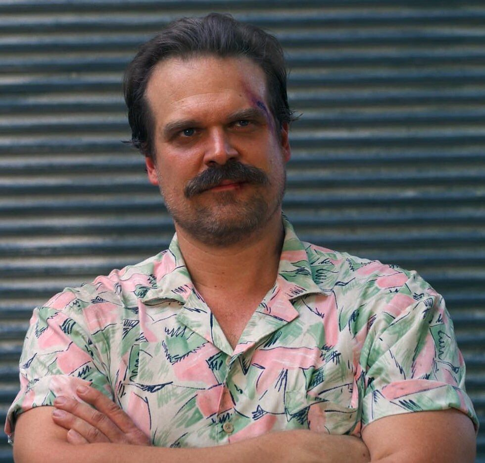Stranger Things Fat Rambo Hopper T-Shirt Inspired by David Harbour in Season 3
