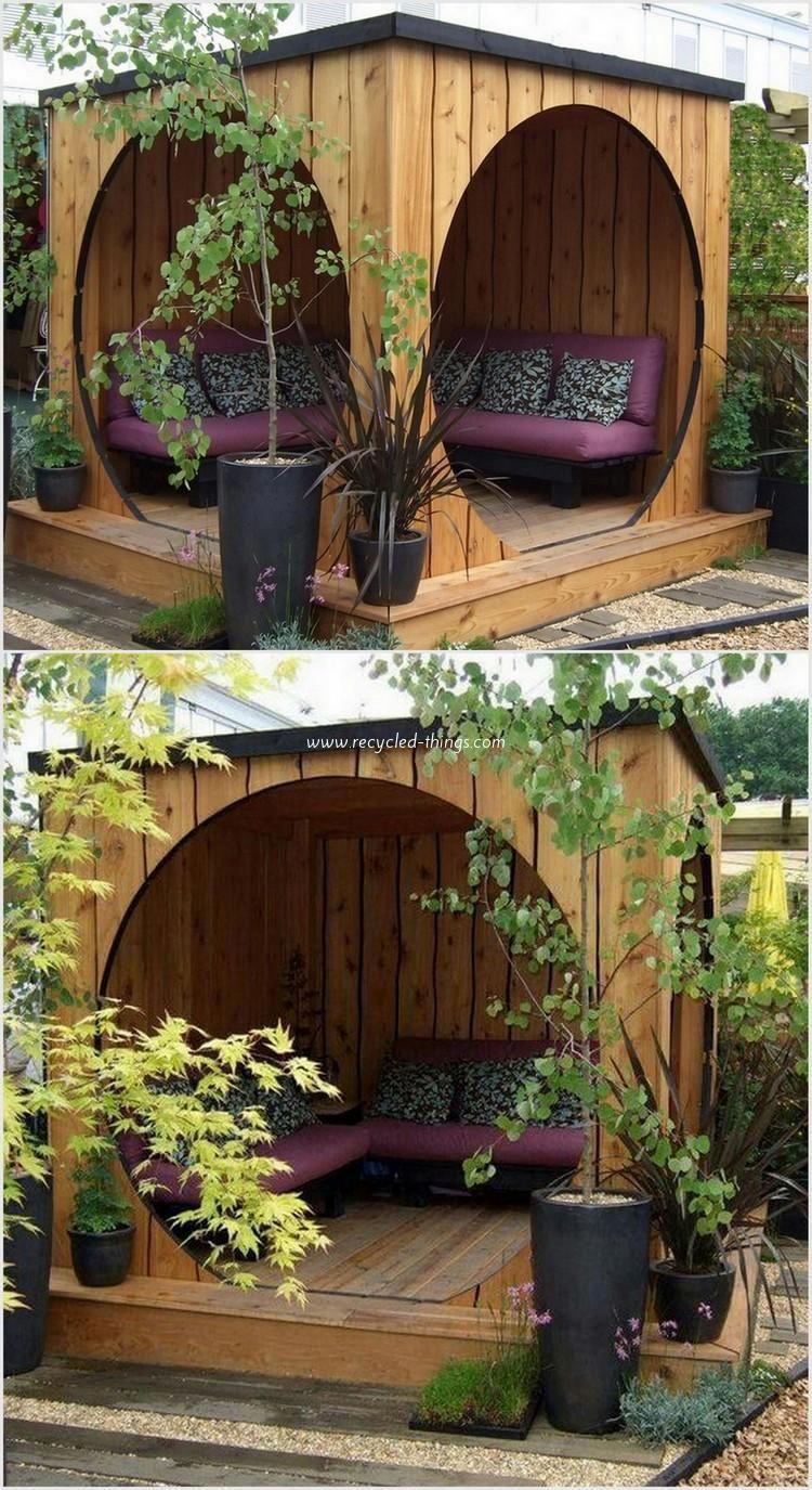 Pallet Garden Idea/ hot tub covered outdoor rm #HomeImprovement #botanicgarden