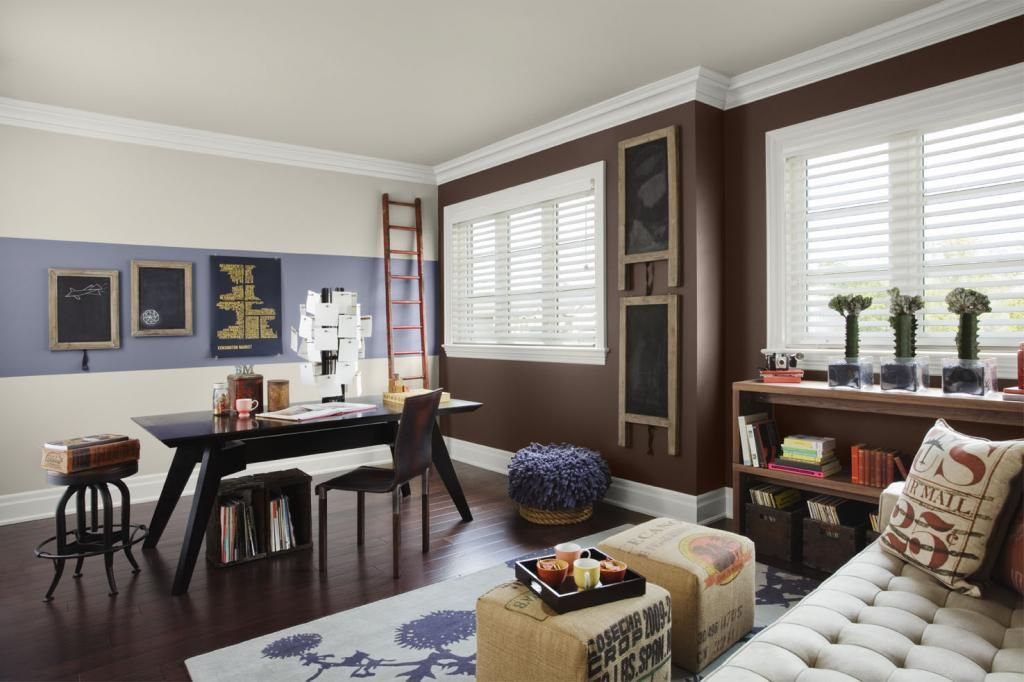 Wall Dawning An Trendy Color Schemes Home Office Wall Rich Brown Color .