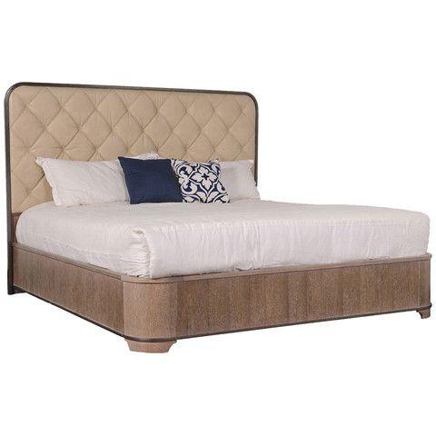 Nice ART Furniture Greenpoint Sandstone Upholdstered Panel Bed 224125 2302
