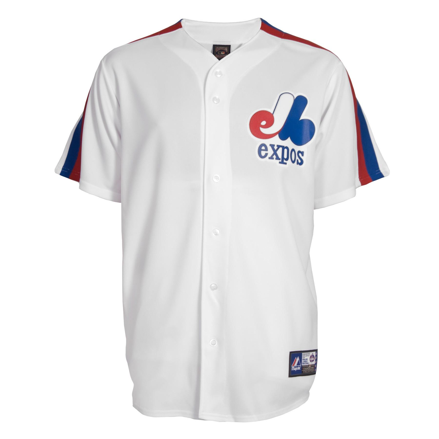 competitive price 69152 28e50 Montreal Expos Cooperstown Fan Replica Baseball Jersey ...