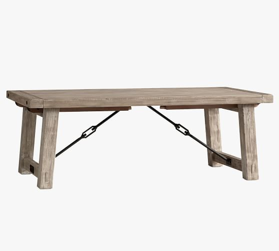 Benchwright Extending Dining Table Blackened Oak In 2020 Dining Table Rustic Extendable Dining Table Rectangle Dining Table