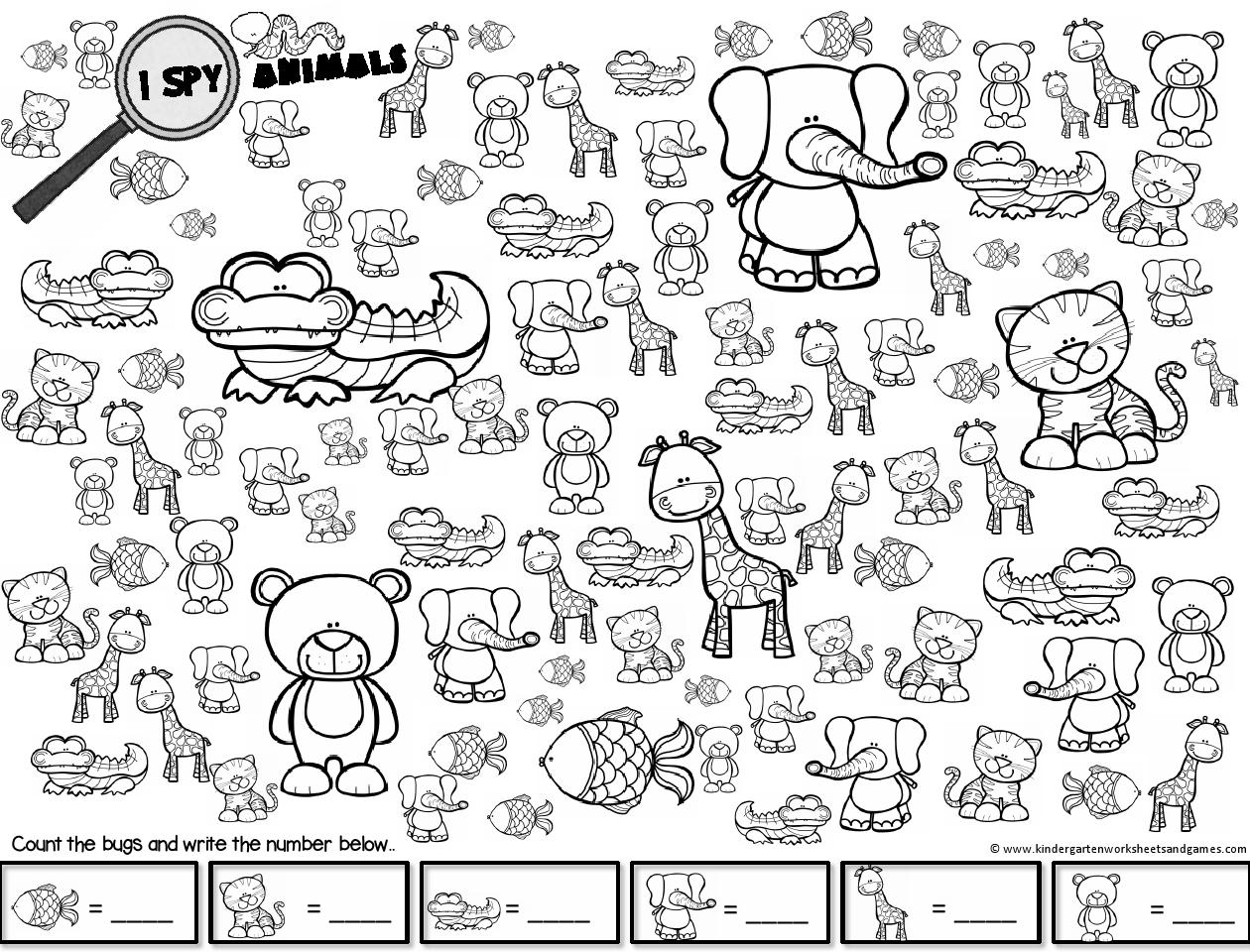 Spy Animals Spy Farm Animals Worksheet For Kindergarten Animal Worksheets Kindergarten Worksheets Christmas Worksheets [ 960 x 1260 Pixel ]