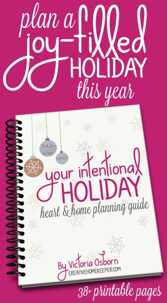You can have a thoughtful, peaceful, joy-filled and intentional holiday season keeping your focus on what truly matters. Download this 38+ page printable workbook and planner designed to help you navigate through the holiday season. This planning guide will help you experience more peace and joy this holiday season and it's FREE for a limited time!