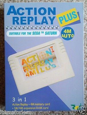 Sega Saturn Action Replay Plus Memory Card Codes Auto 1 or