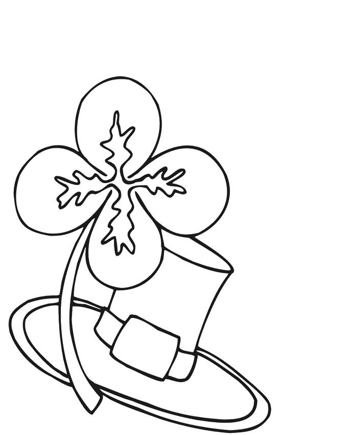 Four Leaf Clover Coloring Pages | Easter & Saint Patrick\'s Day ...