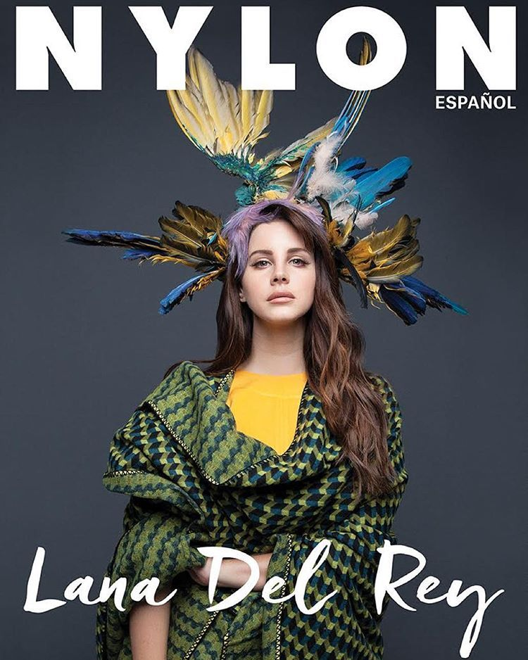 """The other @lanadelrey x @kenzo @nylonespanol cover, featuring our Vichy coat #kenzofw15"""