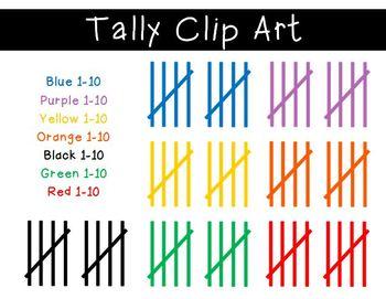 Tally Marks Clipart Tally Marks Clip Art Math Anchor Charts