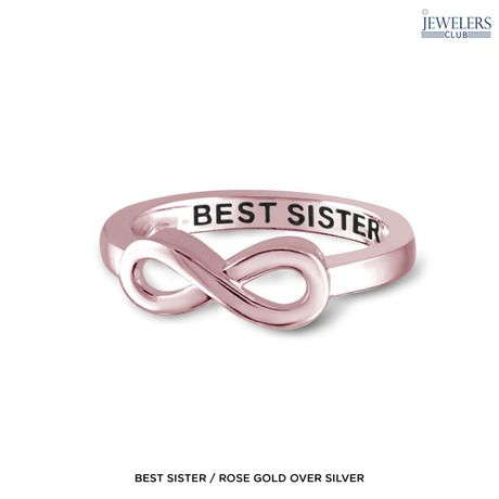 Sterling Silver Engraved Infinity Ring - Assorted Styles & Colors, $10 @ No More Rack. Found on this deal at dealsalbum