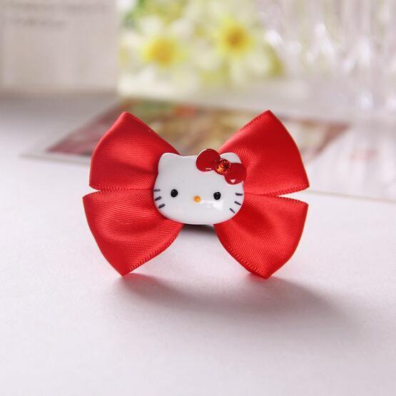 55b223516 2016 HOT SALE Hello Kitty Bow Hair ring Hairpins Cartoon Barrette Hair Pin  accessories Clips Headwear