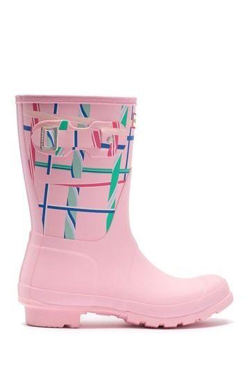 Hunter   Original Short Waterproof Printed Rain Boot   Nordstrom Rack #nordstromrack