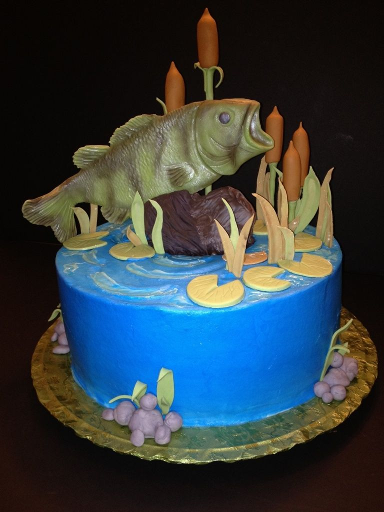 BIG FISH My Father In Laws Birthday Cake Done By CakesbyLisa FABULOUS