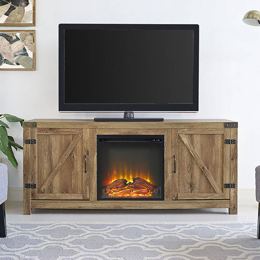 Manor Park Farmhouse Fireplace Tv Stand For Tvs Up To 65