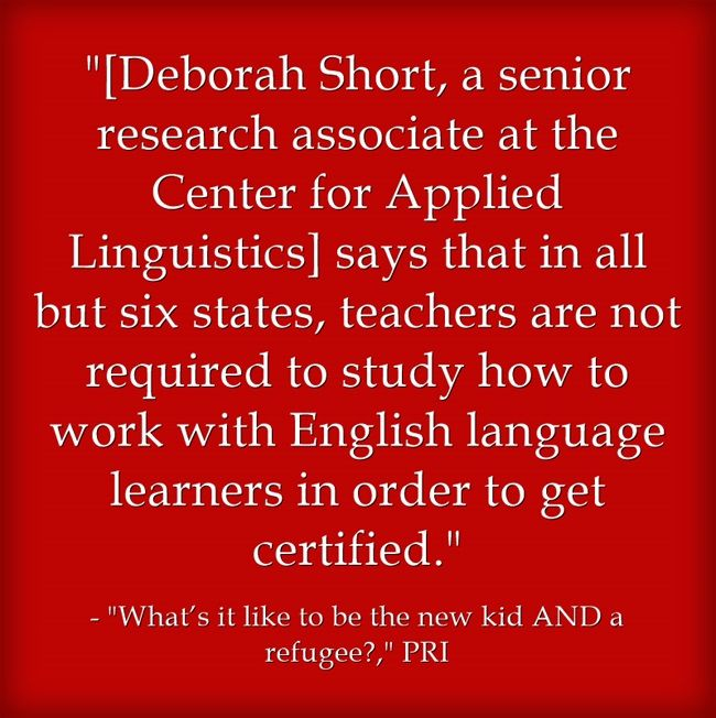 Statistic Of The Day: Only Six States Require ELL Certification For ...