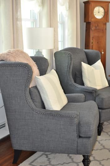 Charcoal Oscar Chair Living Rooms Room And Wingback Chairs