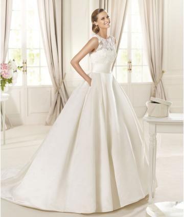 A-linie Modische Exklusive Brautkleider aus Satin mit Applikation ...