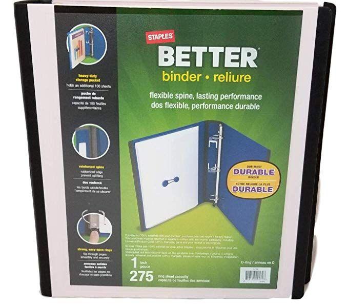 Amazon.com : Staples (TM) Better Binder, 1 Inch, 275 Sheet