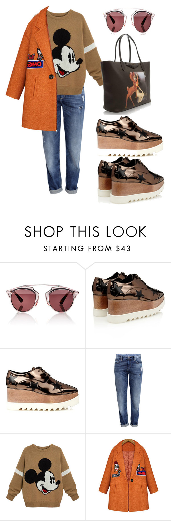 """""""Untitled #95"""" by ana-aleta ❤ liked on Polyvore featuring mode, Christian Dior, STELLA McCARTNEY, H&M, Givenchy, women's clothing, women, female, woman en misses"""