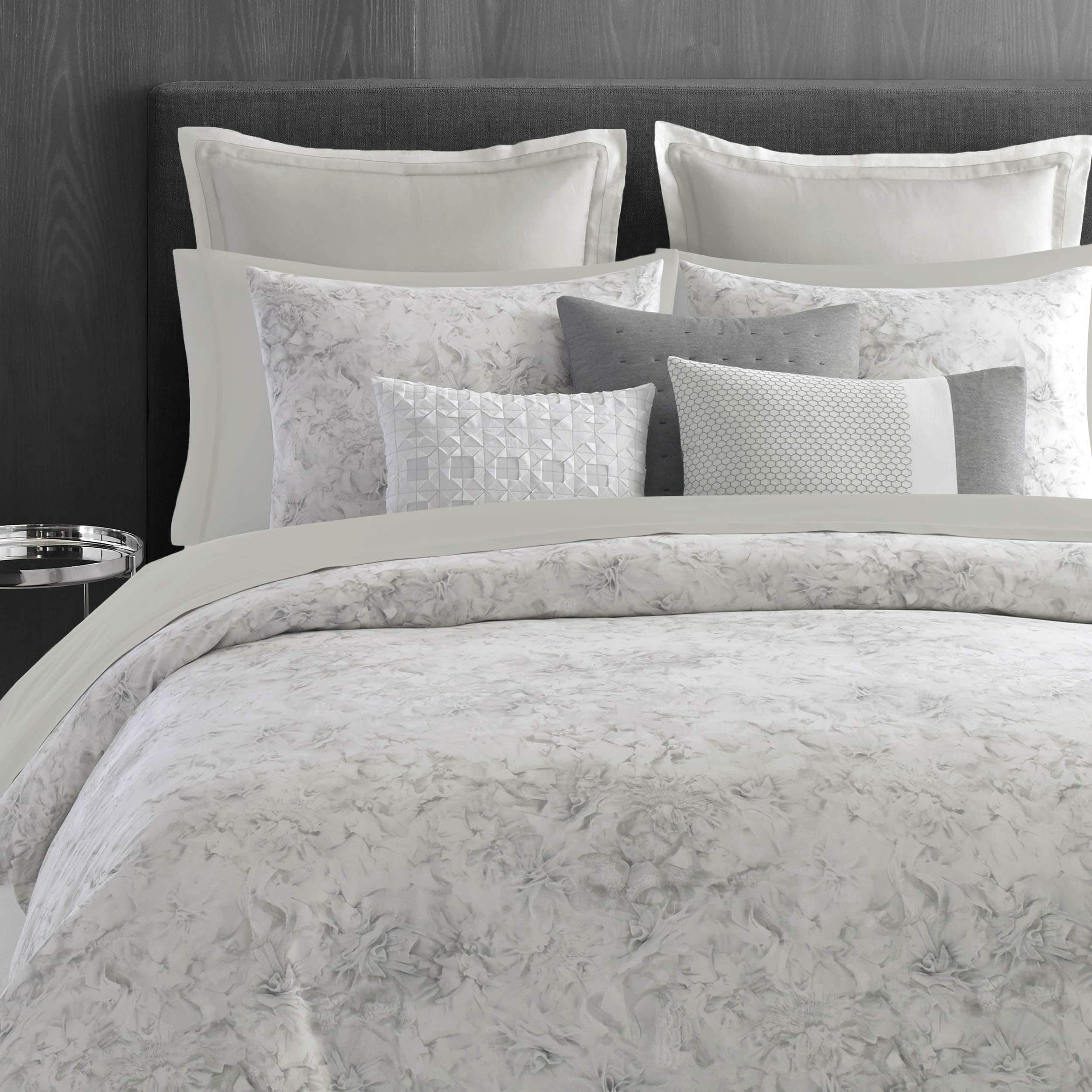 Vera Wang Tuille 3 Piece Duvet Cover Set With Images Floral