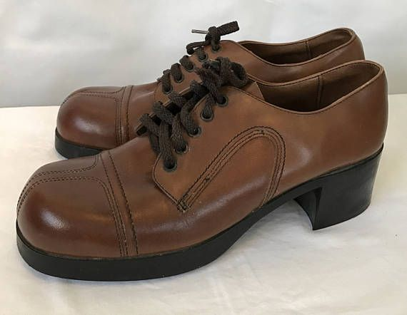 1970 S Retro Men S Brown Leather Boogie Shoes Disco Cheap Designer Shoes Boogie Shoes Dress Shoes Men