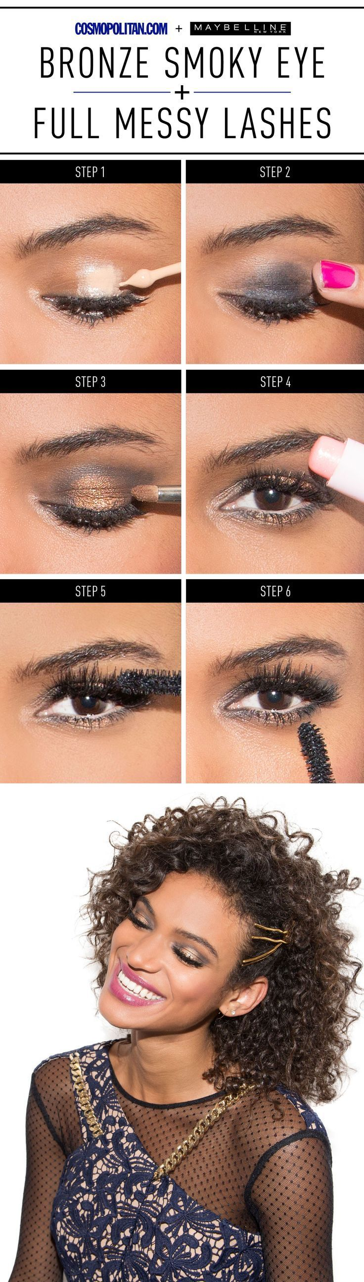 Photo of How to Do an Unexpected Bronze Smoky Eye With Sexy, Messy Lashes,  #Bronze #Eye #Forbronzeeye…