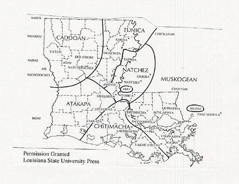 louisiana native american tribes map Native American Tribes Of Louisiana Louisiana History Native louisiana native american tribes map