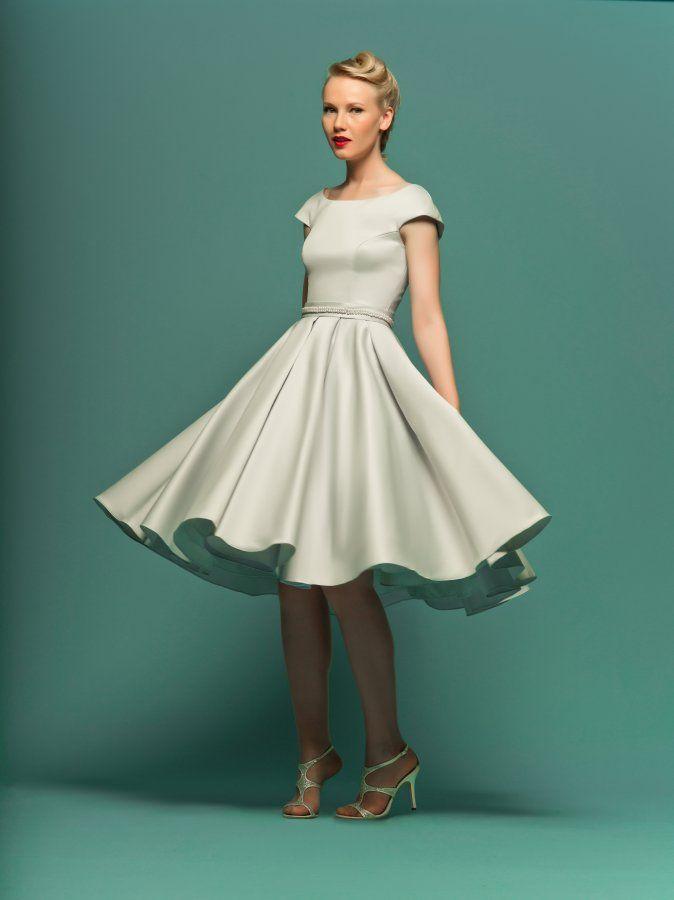 50's inspired wedding dresses   Fifties style tea length dress ...