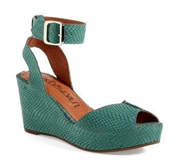 If you want to stand out from the crowd this summer then you need these stunning snake-embossed texture stands in green! Made in Spain these wedges ooze detail and style and are completed with strap with buckle closure for a striking finish. I tried these on at Nordstrom and they felt so soft, light, and comfy!